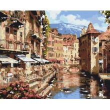 """Картина по номерам """"Австрийский городок"""""""