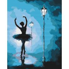 """Картина по номерам """"Балерина в свете фонарей"""""""