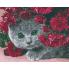 """Алмазная картина-раскраска """"Британец в цветах"""""""