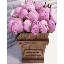 """Картина по номерам """"Букет розовых пионов"""""""
