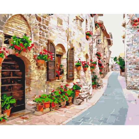 "Картина по номерам ""Цветущая улица"""