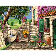 """Картина по номерам """"Каменный дворик"""""""