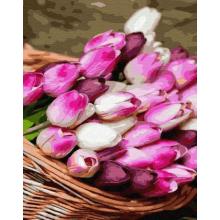 "Картина по номерам ""Корзина тюльпанов"""