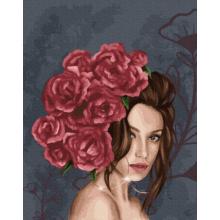 """Картина по номерам """"Леди в розах"""""""