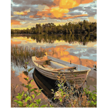 """Картина по номерам """"Лодка на закате"""""""