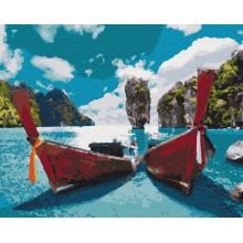 """Картина по номерам """"Лодки в лагуне"""""""