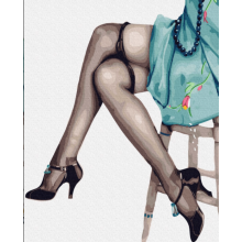 """Картина по номерам """"Ножки кокетки"""""""
