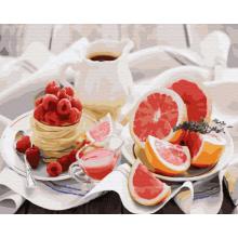 """Картина по номерам """"Полезный завтрак"""""""