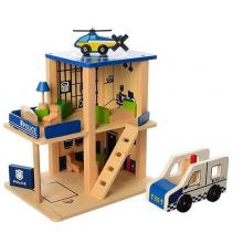 Деревянная игрушка Гараж полиция MD 1059