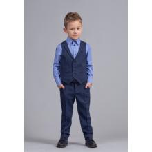 Костюм для мальчика (брюки, жилет, рубашка) синий р.104-52-51 TM Zironka 64-8006-4