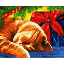 """Картина по номерам """"Сонний кот"""""""