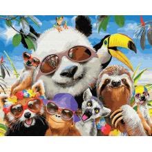"""Картины по номерам """"Тропические животные"""""""