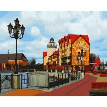 "Картина по номерам ""Улица шведского городка"""