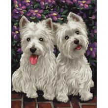 """Картины по номерам """"Веселые собачки"""""""