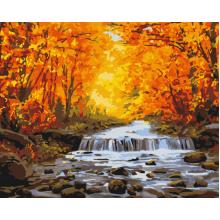 """Картина по номерам """"Водопад в осенней позолоте"""""""
