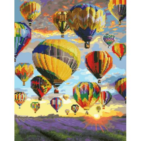 """Алмазная картина-раскраска  """"Воздушные шары Прованса"""""""