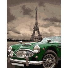 """Картина по номерам """"Зеленое ретро на улицах Парижа"""""""